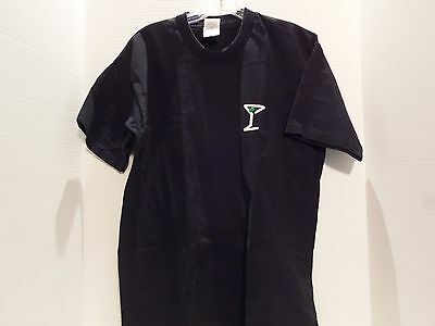 Tanqueray Gin (Martini Glass) Promo T- Shirt (Large)Black-2 Sided- Very Rare