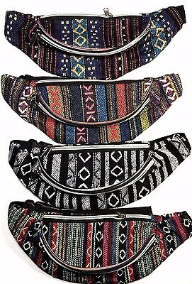 New Aztec Print Fanny Pack Waist Travel Bag Tribal Indian Festival Pouch