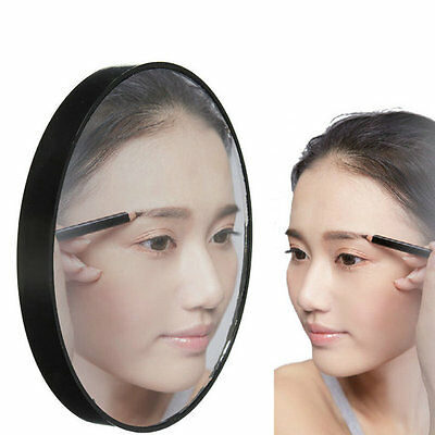 Makeup 10X Huge Magnifying Glass Cosmetics Mirror with Suction Cups Black