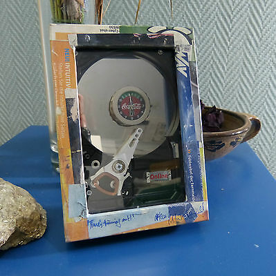 Upcycling-Collage mit Uhr, Unikat handmade, sign.dat. #0012
