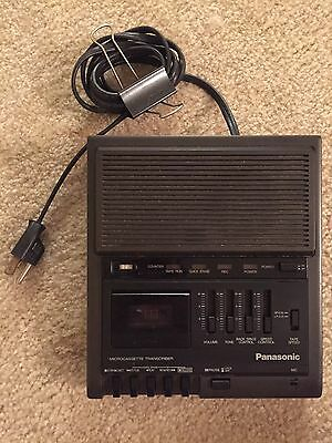 Panasonic Microcassette Transcriber RR-330 Dictation Made in Japan No Foot Pedal