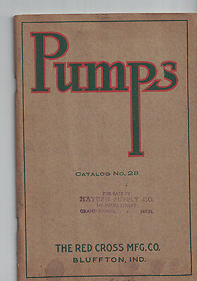 Rare 1920's RED CROSS MANUFACTURING COMPANY BLUFFTON INDIANA PUMP CATALOG