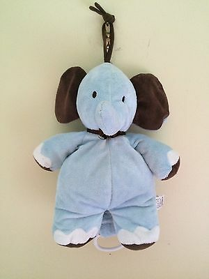 Carters Child Of Mine Elephant Musical Crib Pull Toy Blue Lullaby And Goodnight