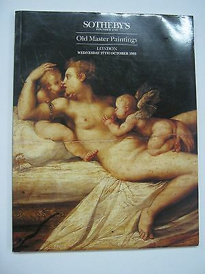 Sotheby's Auction Catalog Old Master Paintings October 1993 London