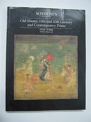 Sotheby's Old Master and 19th 20th Cent & Contemporary Prints May 1986 New York