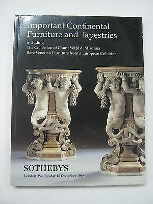 Soethby's Important Continental Furniture & Tapestries Dec 1998 London