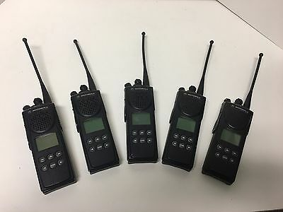 Lot of 5 Motorola XTS 3000 Model II H09UCF9PW7AN 800 mhz Portable Radio