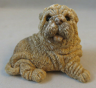 """Shar Pei Dog Figurine Marked 1988 UDC About 2"""" Adorable Dog Figure Some Scuffs"""