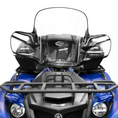 Yamaha Grizzly Kodiak Windshield Quick Release Atv Black With Mounting Kit