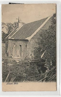 RESTON MILL: Berwickshire postcard (C27062)