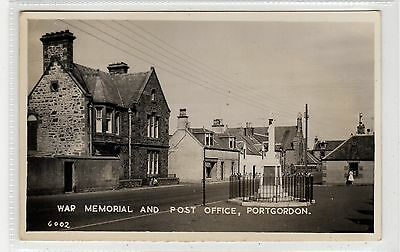 WAR MEMORIAL AND POST OFFICE, PORTGORDON: Banffshire postcard (C27068)