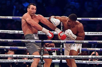 ANTHONY JOSHUA vs Wladimir Klitschco  A4 SIZE GLOSSY PHOTO NEW REPRINT POSTER #3