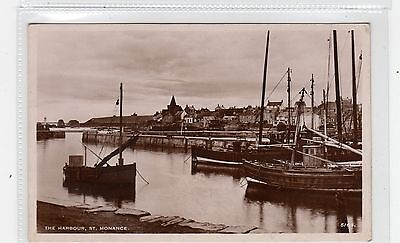 THE HARBOUR, ST MONANCE: Fife postcard (C26800)