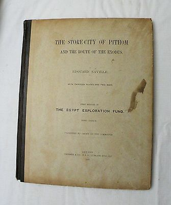 1888 Egyptian archeology book THE STORE-CITY OF PITHOM by Edouard Naville