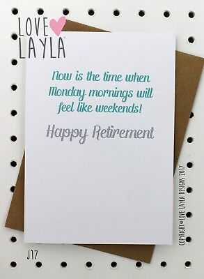 Greetings card retirement card leaving comedy love layla greetings card retirement card comedy love layla funny humour j17 m4hsunfo