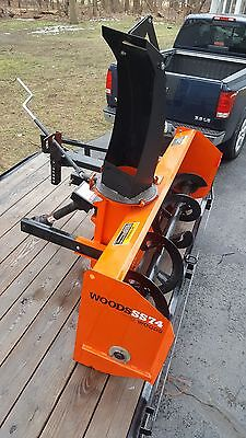 "Woods pto snow thrower 74"" - used 1 season - SnowBlower - ss74"