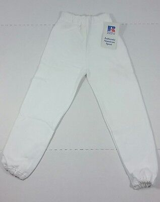 Vintage Youth Russell Athletic Sweatpants White NWT