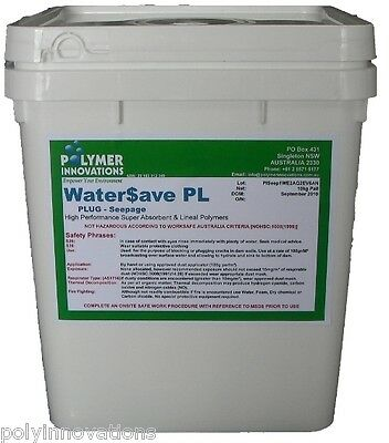 Dam & Pond Sealer - Water Save Seep 10kg - Locate leak & stop it! Plug the leak.