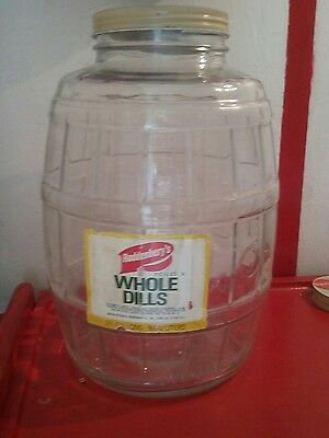 Large Vintage General Store Counter Top Barrel Pickle Jar 2.5 Gallon Roddenbery