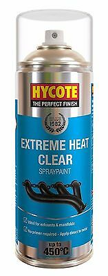 Very High Temperature Spray Paint Clear 400ml Heat Resistant Exhausts & Manifold