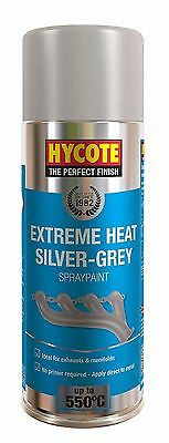 Very High Temperature Spray Paint Silver Grey 400ml Ideal for Exhausts Manifolds