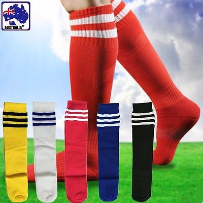 Kids Unisex Soccer Socks Football Above Knee Tube Stocking Sport White OFSOC 00