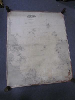 Antique 1882 East India Archipelago Nautical Chart Map #2, China, James Imray