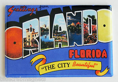 Greetings from Orlando FRIDGE MAGNET (2.5 x 3.5 inches) florida travel souvenir