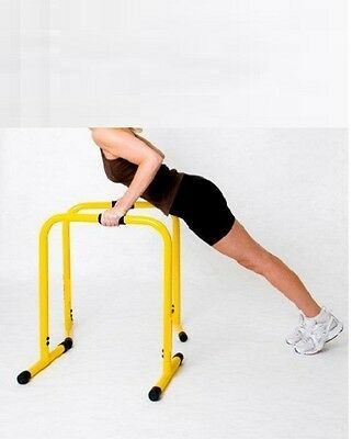 Fitness Chin Up Dip Parallel Bars Parallette Stand Push Equaliser Cross Training