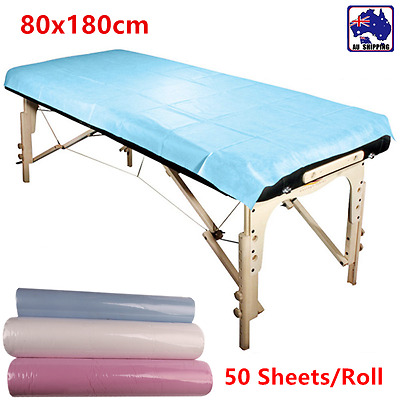 50pcs Waterproof Disposable Beauty Bed Sheet Cover Massage 80x180cm SGSH546