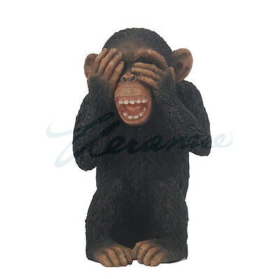 wise monkey see, hear, speak no evil set of 3 collectible figurine