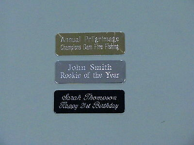 Engraved Metal Plate 47x16mm Scrapbooking,Trophies,Gift