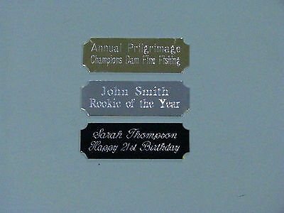 Engraved Metal Plate 47x16mm Concave Corners  Scrapbooking,Trophies,Gift