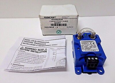 Ashcroft CX8MB2425IWL Low Pressure Transducer, -5 to 0 to 5 In WC, NEMA Rating1