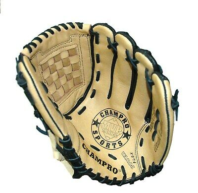 Champro Fielders Glove 12″ - Mvp 700 - Tan / Black - Left Hand Or Right Hand