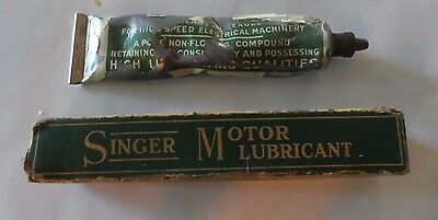 Vintage Singer Sewing Machine Motor Lubricant in box