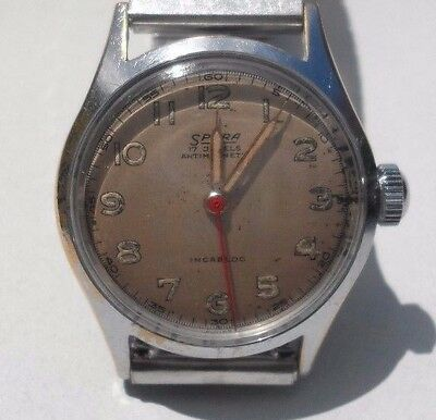 Vintage Spera Mens WWII Military Watch 17 Jewel, Excellent Condition