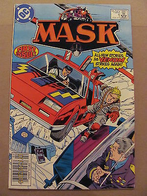 MASK #1 DC Comics 1987 Series Based on TV Show & Toy Line NEWSSTAND EDITION