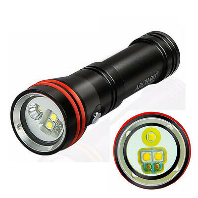 Archon D15VP 1300LM Cree LED Scuba Dive Light Underwater Video 18650 Flashlight