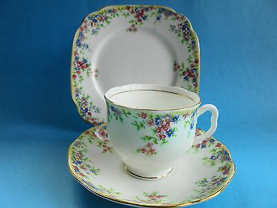 Antique Royal Albert Maytime Trio Tea Cup Saucer Plate Crown China