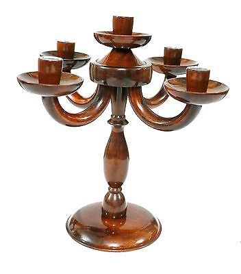 Beautiful Vintage Hand Carved Wooden Handicraft Different Styles Candle Stand