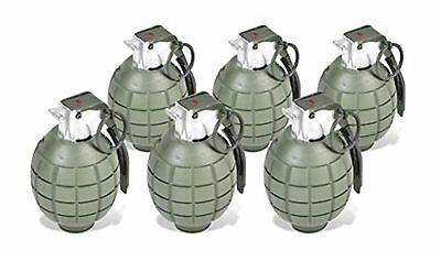 Maxx Action Commando Series Toy Hand Grenades with Lights and Sounds, Pack of 6
