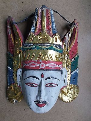 Antique Mask Indo-China. Wood. Size 12.5 on 11 inches