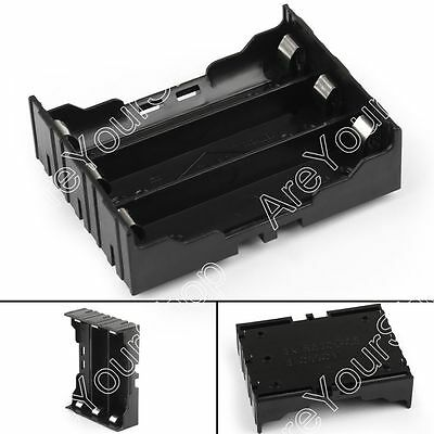 3 Cell 18650 Battery Holder Case Box Leads Pins PCB Board Mount Plastic B4