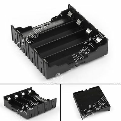 4 Cell 18650 Battery Holder Case Box Leads Pins PCB Board Mount Plastic B4