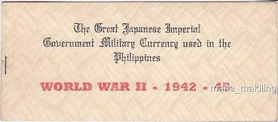 WW2 JAPAN Philippines COMPLETE SET 13 Pieces Regular Issue Banknotes