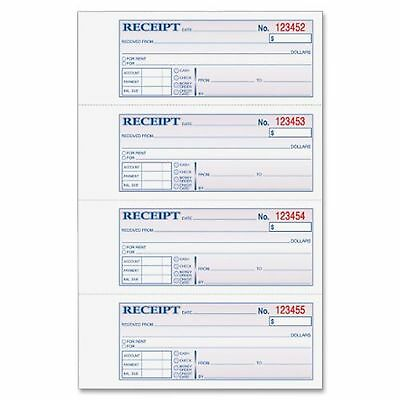 Adams Money and Rent Receipt Book 7.63 x 11 Inch Tape Bound 3-Part Carbonless...