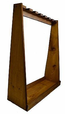 Evans Sports Standing Rifle Rack Gun Display Shotgun Stand Wooden Wood Storage