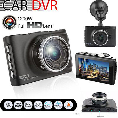 "3"" Night Vision HD 1080P Car DVR CCTV Dash Camera  Vehicle Video Cam Recorder"