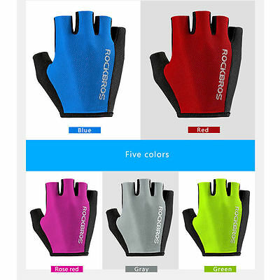 Rockbros Bike Pad Half Finger Short Finger Gloves Sport Breath Gloves 5 Colors